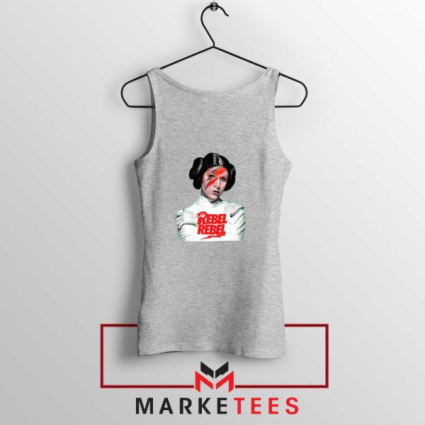 Princess Leia Rebel David Bowie Sport Grey Tank Top