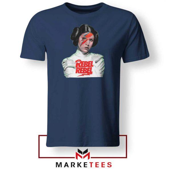 Rebel Princess Leia Star Wars Navy Blue Tshirt