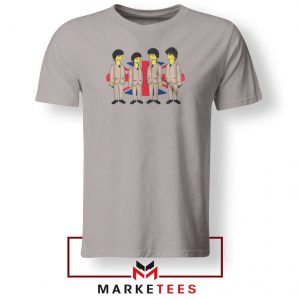 Simpsons Beatles Band Best Sport Grey Tshirt