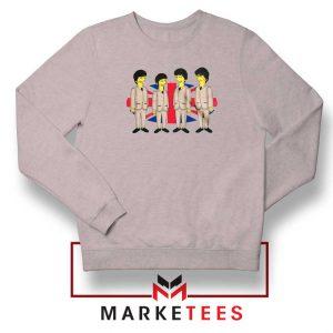Simpsons Beatles Band Sport Grey Sweatshirt
