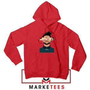 The Weeknd Xo Ovo Tour 2015 Red Hoodie
