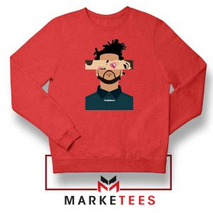 The Weeknd Xo Ovo Tour 2015 Red Sweatshirt