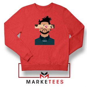 The Weeknd Xo Ovo Tour 2015 Red Sweatshirt