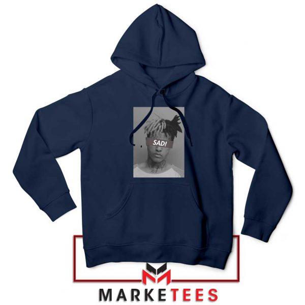 XXXTentacion Sad Rapper Navy Blue Hoodie