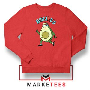 Avocardio Vegan 2021 New Red Sweatshirt
