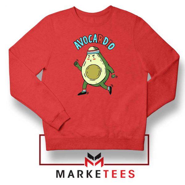 Avocardio Vegan 2021 New Red Sweatshirt