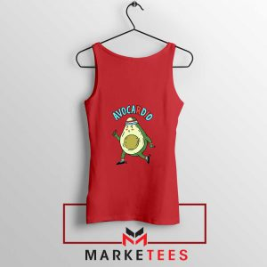 Avocardio Vegan 2021 Red Tank Top
