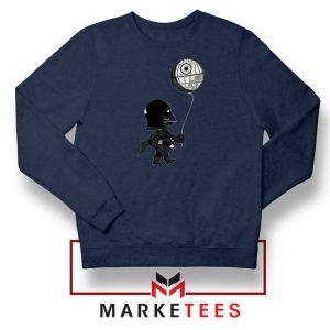 Baby Vader Balloon Banksy Navy Blue Sweatshirt