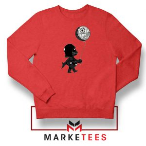 Baby Vader Balloon Banksy Red Sweatshirt