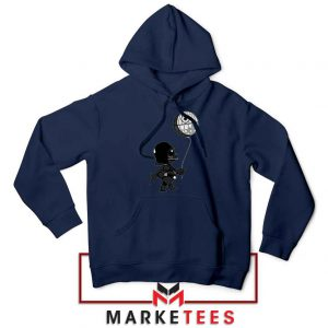 Baby Vader Balloon Banksy Style Navy Blue Hoodie