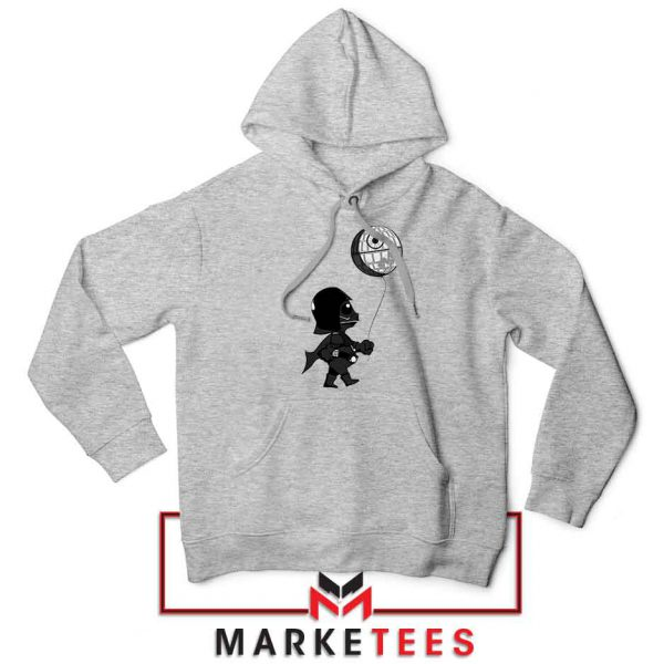 Baby Vader Balloon Banksy Style Sport Grey Hoodie