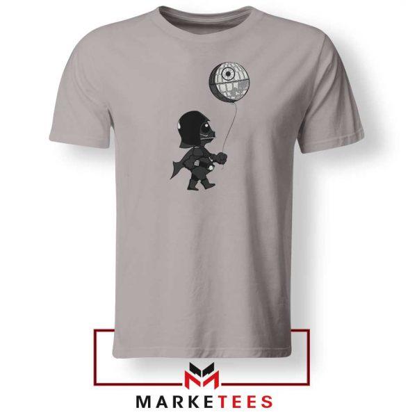 Baby Vader Balloon Banksy Style Sport Grey Tshirt
