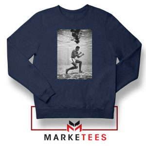 Cassius Clay Vintage Best Navy Blue Sweatshirt