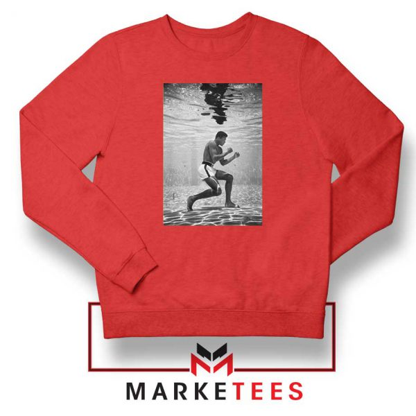 Cassius Clay Vintage Best Red Sweatshirt