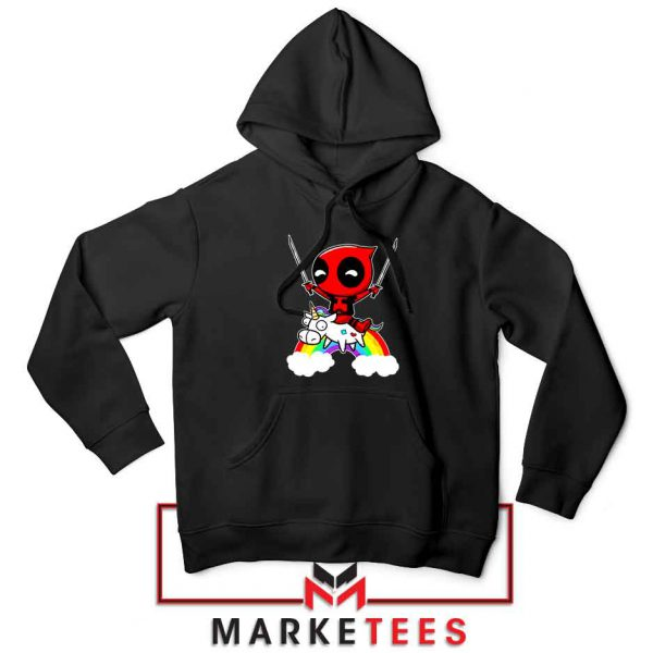 Deadpool Film Unicorn Black Hoodie