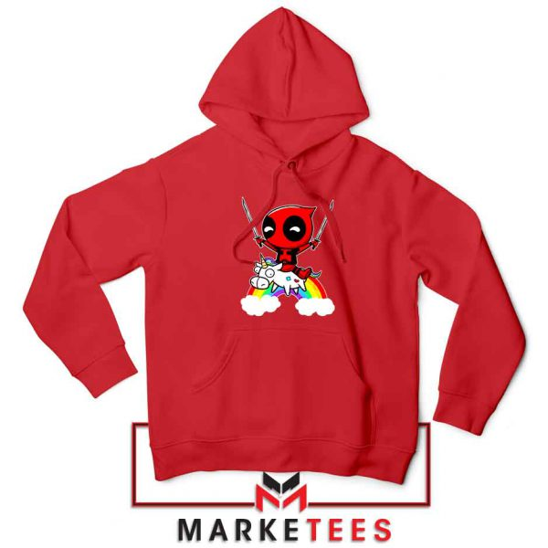 Deadpool Film Unicorn Red Hoodie