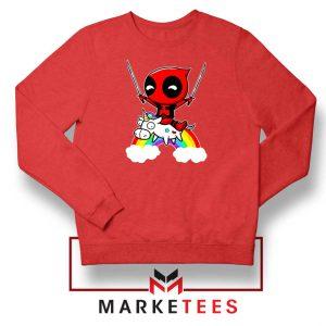 Deadpool Marvel Unicorn Red Sweatshirt