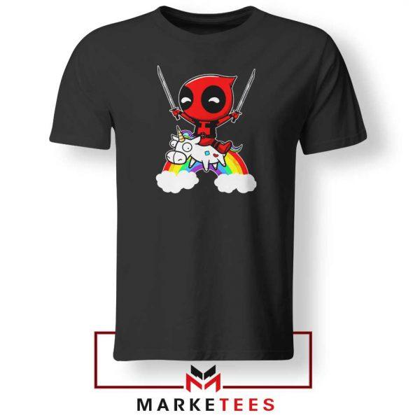Deadpool Unicorn 2021 Black Tshirt