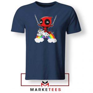 Deadpool Unicorn 2021 Navy Blue Tshirt