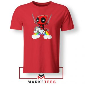 Deadpool Unicorn 2021 Red Tshirt