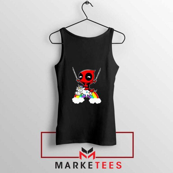 Deadpool X Men Unicorn Black Tank Top