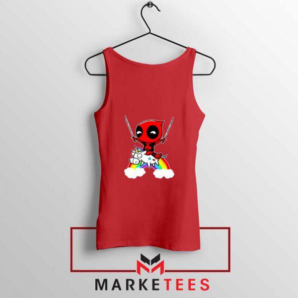 Deadpool X Men Unicorn Red Tank Top