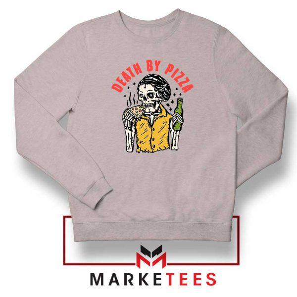 Death By Pizza Italian New Sport Grey Sweatshirt