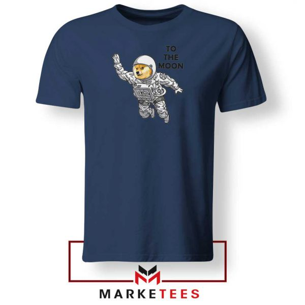 Dogecoin To The Moon 2021 Navy Blue Tshirt