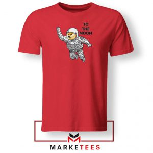 Dogecoin To The Moon 2021 Red Tshirt
