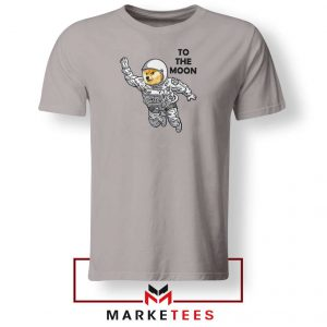 Dogecoin To The Moon 2021 Sport Grey Tshirt