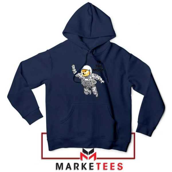 Dogecoin To The Moon Best Navy Blue Hoodie