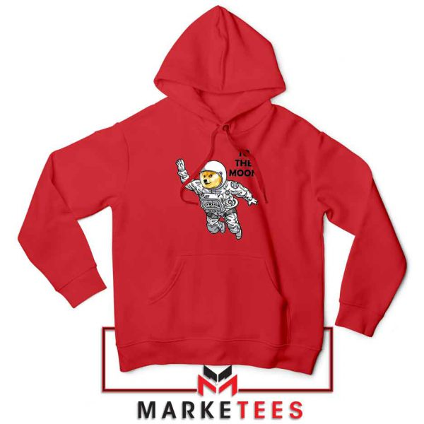 Dogecoin To The Moon Best Red Hoodie