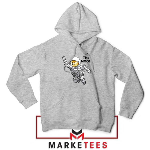 Dogecoin To The Moon Best Sport Grey Hoodie