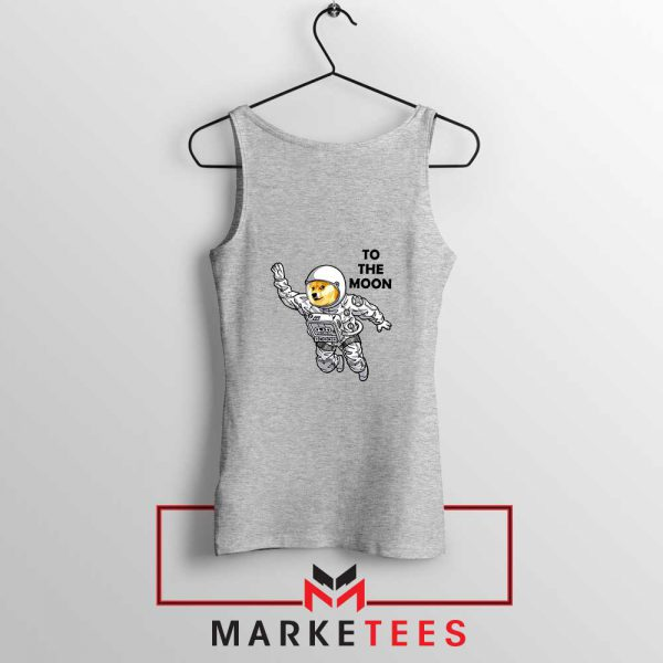Dogecoin To The Moon Cheap Sport Grey Tank Top