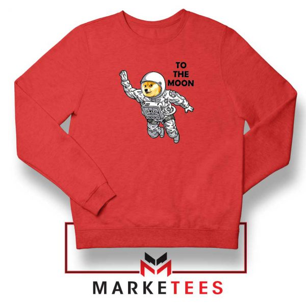 Dogecoin To The Moon Red Sweatshirt