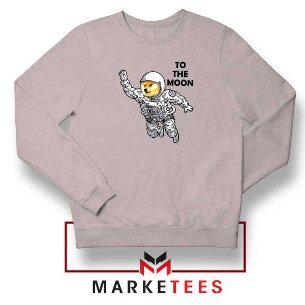 Dogecoin To The Moon Sport Grey Sweatshirt