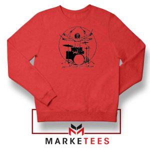 Drummer Band Best Music Red Sweatshirt