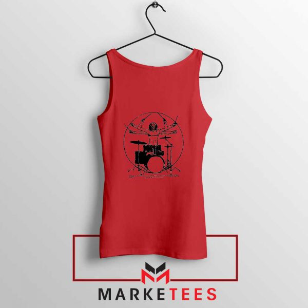 Drummer Band Best Music Red Tank Top