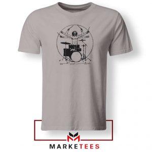 Drummer Band Vintage Music Sport Grey Tshirt