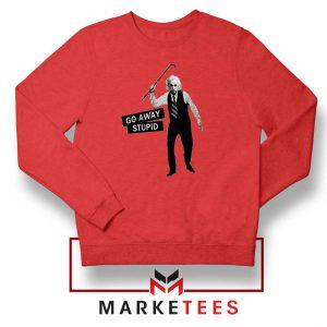 Einstein Stupid Slogan Red Sweatshirt