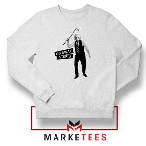 Einstein Stupid Slogan Sweatshirt