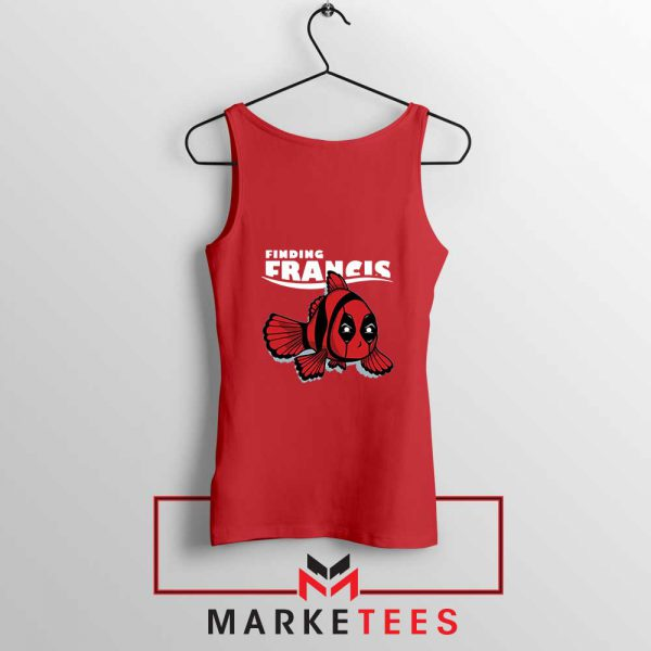 Finding Francis Deadpool Red Tank Top