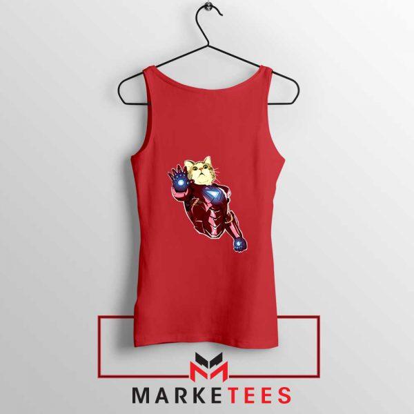 Iron Cat Marvel Comics 2021 Red Tank Top