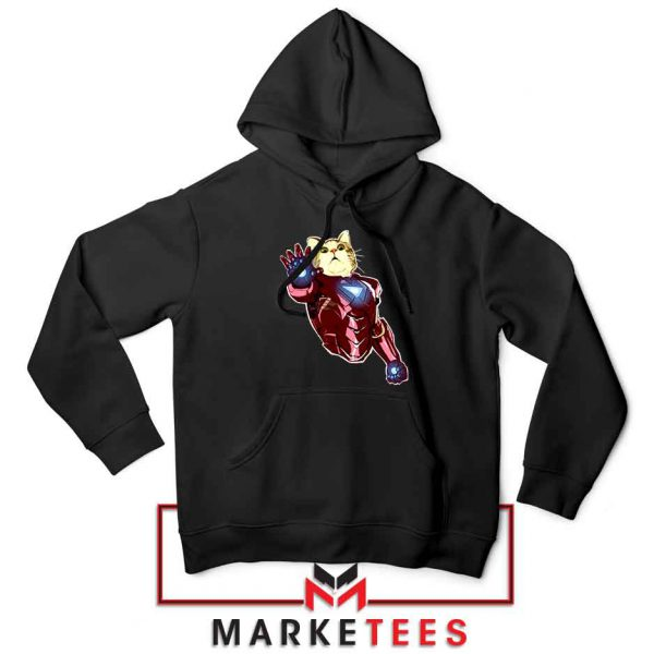 Iron Cat Marvel Comics Black Hoodie