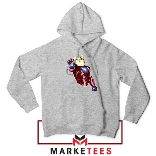 Iron Cat Marvel Comics Sport Grey Hoodie