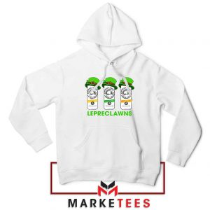 Lepreclawns Animation 2021 White Hoodie