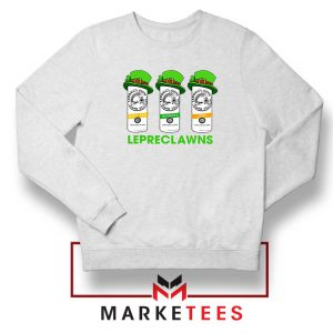 Lepreclawns Animation White Sweatshirt