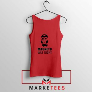 Magneto X Men Was Right Red Tank Top