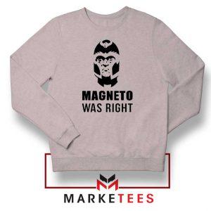 Magneto X Men Was Right Sport Grey Sweatshirt