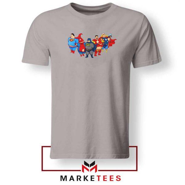 Marvel Fat Superheroes 2021 Sport Grey Tshirt